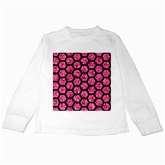 HXG2 BK-PK MARBLE (R) Kids Long Sleeve T-Shirts