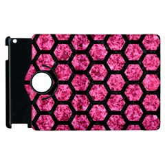 HXG2 BK-PK MARBLE (R) Apple iPad 3/4 Flip 360 Case