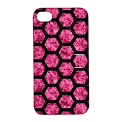 HXG2 BK-PK MARBLE (R) Apple iPhone 4/4S Hardshell Case with Stand