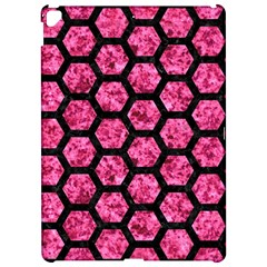 Hexagon2 Black Marble & Pink Marble (r) Apple Ipad Pro 12 9   Hardshell Case