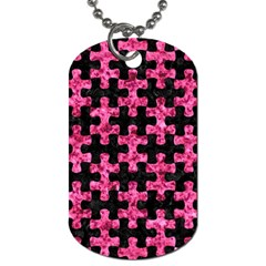PUZ1 BK-PK MARBLE Dog Tag (Two Sides)