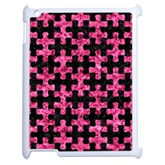 PUZ1 BK-PK MARBLE Apple iPad 2 Case (White)