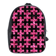 PUZ1 BK-PK MARBLE School Bags (XL)