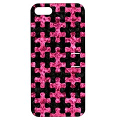 PUZ1 BK-PK MARBLE Apple iPhone 5 Hardshell Case with Stand