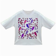 Flowers and birds pink Infant/Toddler T-Shirts