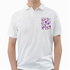 Flowers and birds pink Golf Shirts