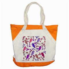 Flowers and birds pink Accent Tote Bag