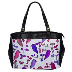 Flowers and birds pink Office Handbags