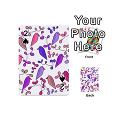 Flowers and birds pink Playing Cards 54 (Mini)