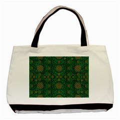 Magic Peacock Night Basic Tote Bag (Two Sides)