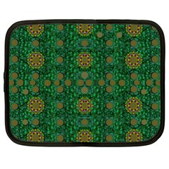 Magic Peacock Night Netbook Case (XL)