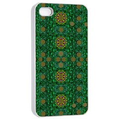 Magic Peacock Night Apple iPhone 4/4s Seamless Case (White)