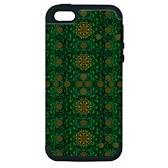 Magic Peacock Night Apple iPhone 5 Hardshell Case (PC+Silicone)