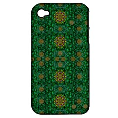 Magic Peacock Night Apple iPhone 4/4S Hardshell Case (PC+Silicone)