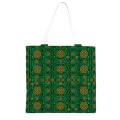 Magic Peacock Night Grocery Light Tote Bag
