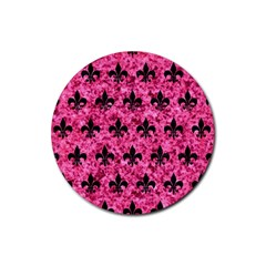 RYL1 BK-PK MARBLE Rubber Round Coaster (4 pack)