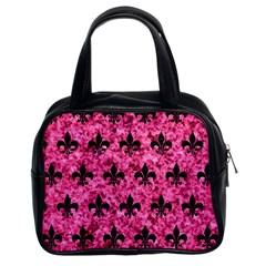 RYL1 BK-PK MARBLE Classic Handbags (2 Sides)