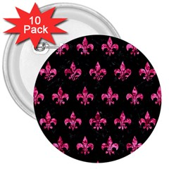 RYL1 BK-PK MARBLE (R) 3  Buttons (10 pack)