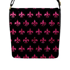 RYL1 BK-PK MARBLE (R) Flap Messenger Bag (L)