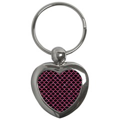 SCA1 BK-PK MARBLE Key Chains (Heart)