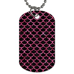 SCA1 BK-PK MARBLE Dog Tag (Two Sides)
