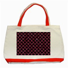 SCA1 BK-PK MARBLE Classic Tote Bag (Red)