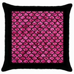 SCA1 BK-PK MARBLE (R) Throw Pillow Case (Black)