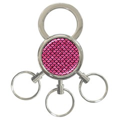 SCA1 BK-PK MARBLE (R) 3-Ring Key Chains