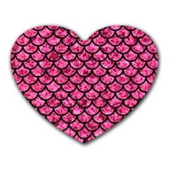 SCA1 BK-PK MARBLE (R) Heart Mousepads
