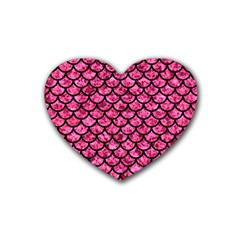 SCA1 BK-PK MARBLE (R) Rubber Coaster (Heart)
