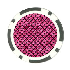 SCA1 BK-PK MARBLE (R) Poker Chip Card Guards