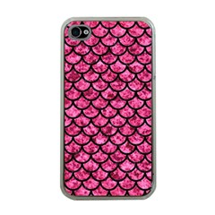 SCA1 BK-PK MARBLE (R) Apple iPhone 4 Case (Clear)