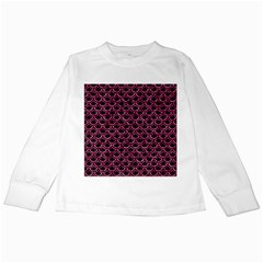 SCA2 BK-PK MARBLE Kids Long Sleeve T-Shirts