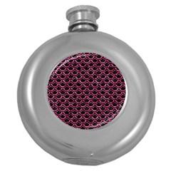SCA2 BK-PK MARBLE Round Hip Flask (5 oz)