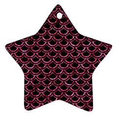 SCA2 BK-PK MARBLE Star Ornament (Two Sides)
