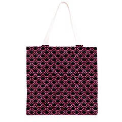 SCA2 BK-PK MARBLE Grocery Light Tote Bag