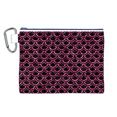 SCA2 BK-PK MARBLE Canvas Cosmetic Bag (L)