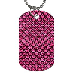 SCA2 BK-PK MARBLE (R) Dog Tag (One Side)
