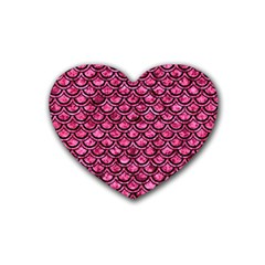 SCA2 BK-PK MARBLE (R) Rubber Coaster (Heart)