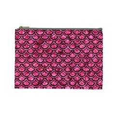 SCA2 BK-PK MARBLE (R) Cosmetic Bag (Large)
