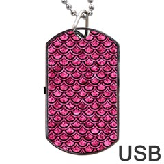 SCA2 BK-PK MARBLE (R) Dog Tag USB Flash (One Side)