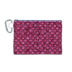 SCA2 BK-PK MARBLE (R) Canvas Cosmetic Bag (M)