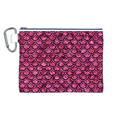 SCA2 BK-PK MARBLE (R) Canvas Cosmetic Bag (L)