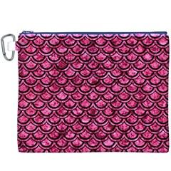 SCA2 BK-PK MARBLE (R) Canvas Cosmetic Bag (XXXL)
