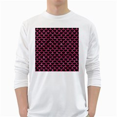 Scales3 Black Marble & Pink Marble Long Sleeve T Shirt