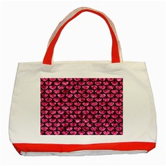SCA3 BK-PK MARBLE (R) Classic Tote Bag (Red)