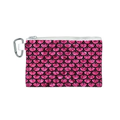 SCA3 BK-PK MARBLE (R) Canvas Cosmetic Bag (S)