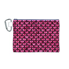 SCA3 BK-PK MARBLE (R) Canvas Cosmetic Bag (M)
