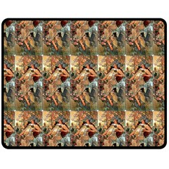 Autumn By Alfons Mucha 1896 Double Sided Fleece Blanket (Medium)