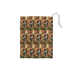 Autumn By Alfons Mucha 1896 Drawstring Pouches (Small)